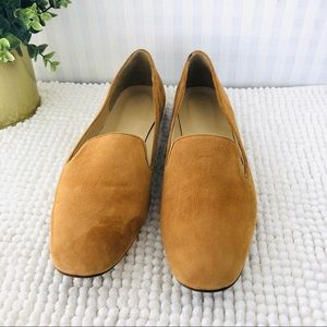 J. Crew Shoes - J. Crew loafers suede smoking sleepers light brown